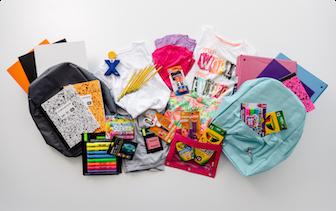 Various school supplies going to Child Crisis programs.