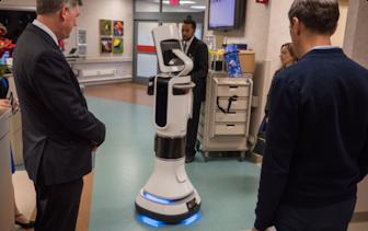 Futuristic medical machine at Mayo Clinic.