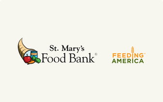 St. Mary's Food Bank and Feeding America logos